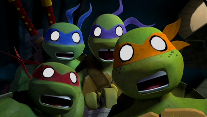 The animation combines both 3D characters and world with 2D expressions and surprises that give the allusion of watching an animated comic book.