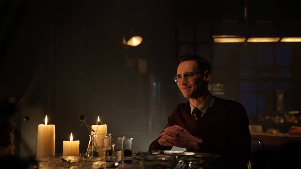 GOTHAM:  Nygma (Cory Michael Smith) in the ÒRise of the Villains: Strike ForceÓ episode of GOTHAM airing Monday, Oct. 12 (8:00-9:00 PM ET/PT) on FOX. ©2015 Fox Broadcasting Co. Cr: FOX.
