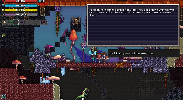 There are many things in the game which break player immersion, such as these awkward and gigantic text boxes.