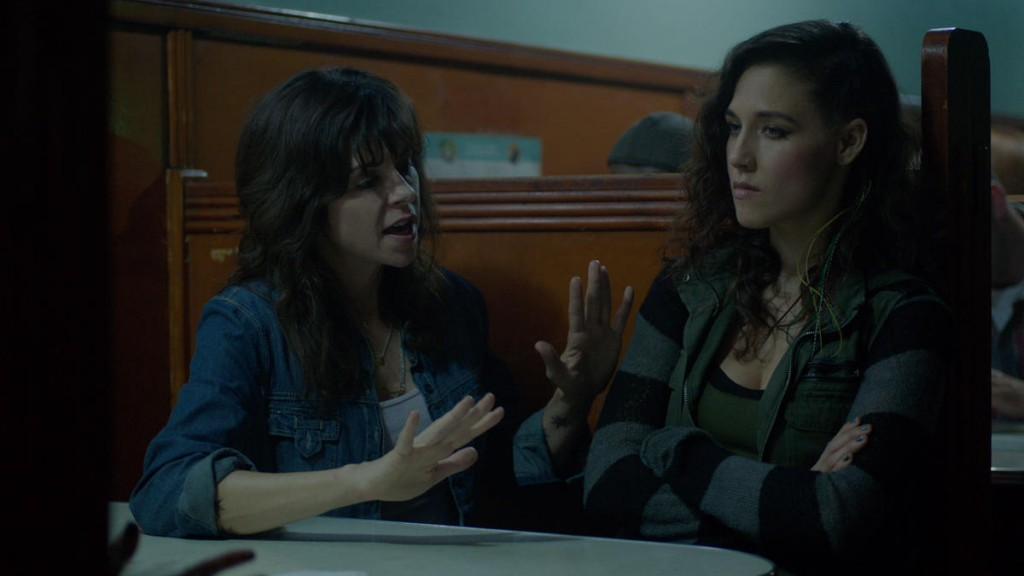 """THE MAGICIANS - """"Impractical Applications"""" Episode 106 - Pictured: (l-r) Amy Pietz as Hannah, Jade Tailor as Kady Orloff-Diaz - (Photo by Syfy)"""