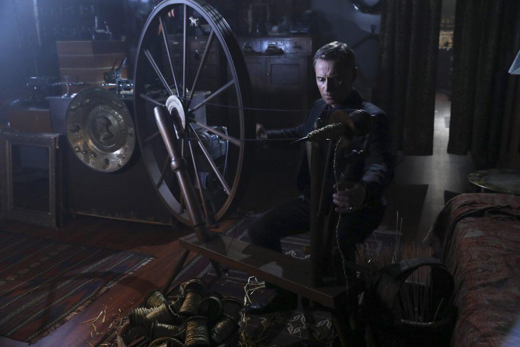 Never trust Rumpelstiltskin when he's doing arts and crafts. (ABC/Jack Rowand) ROBERT CARLYLE