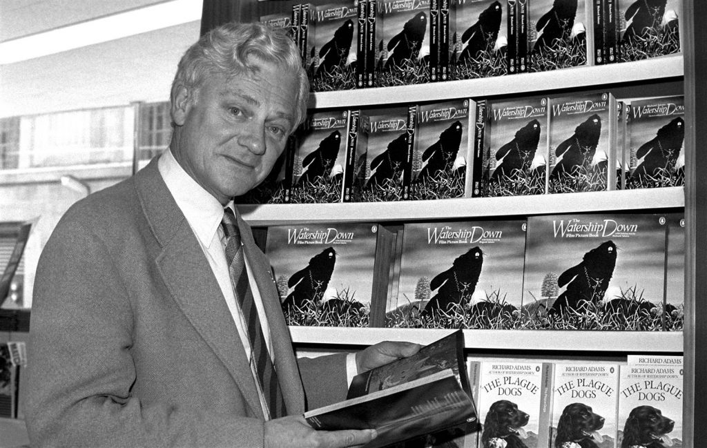 """In this Oct. 18, 1978 file photo author Richard Adams, who wrote """"Watership Down"""" in 1972, poses for a photograph. (PA Photo via AP)"""