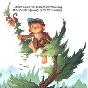 Sid the Sasquatch high in a tree